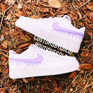 Purple drip CUSTOM Air Force 1 💜